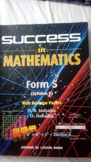 Maths o level(form 5) - Secondary school on Aster Vender