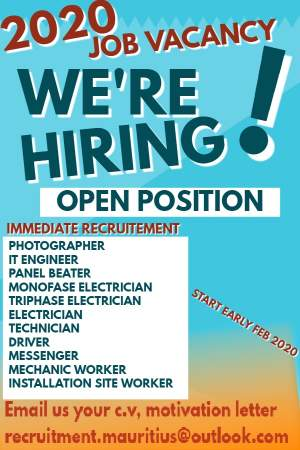 VACANCY 2020 WE ARE HIRING IMMEDIATE RECRUITMENT - Jobs on Aster Vender