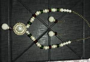 Indian Necklace with matching Earrings - Necklaces on Aster Vender