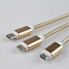 3 In 1 Cable Charger - Iphone, Android & Type C
