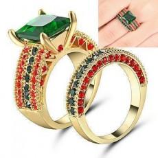 Female: Multi-Color Aquamarine Rings