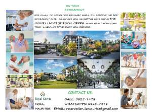 A VENDRE ET A LOUER-ROYAL GREEN RESIDENCE DE LUXE  - Apartments on Aster Vender