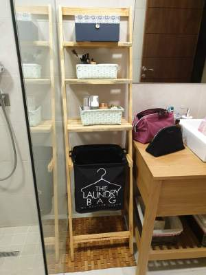 Wooden Towel Stand - Bathroom on Aster Vender
