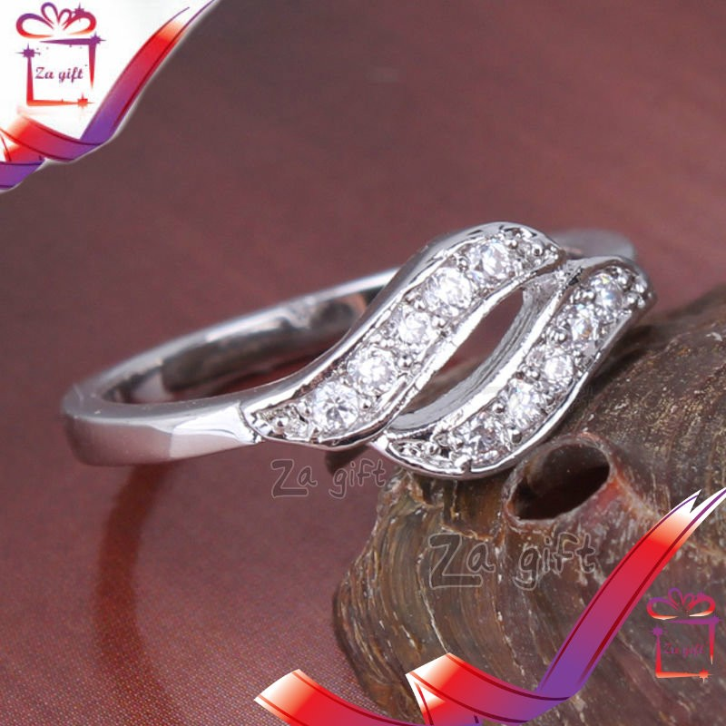 Female : 18 K Silver Filled Ring  - Rings at AsterVender