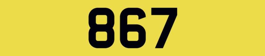 Autocycle Registration Mark 867