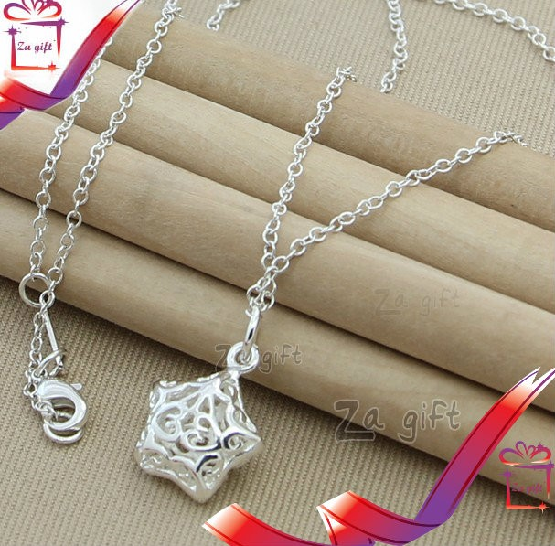 Female : 925 Star sterling Silver Necklace