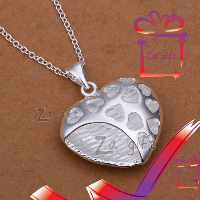 Female : 925 Sterling Silver Hearts Necklace - Necklaces at AsterVender