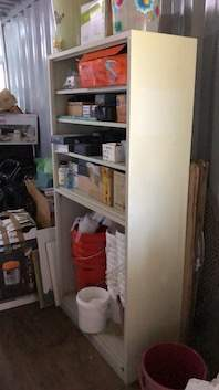 Large set of metal shelves