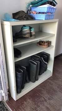 Metal shelves