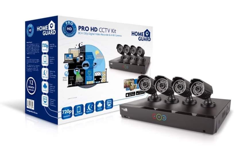 HomeGuard Wireless Full HD CCTV 8CH + 4 Cameras