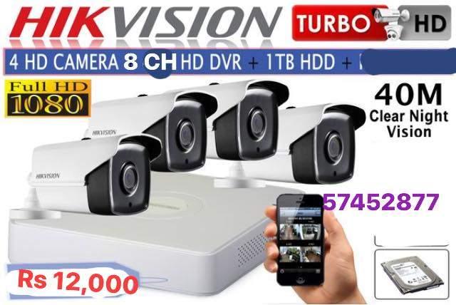 Hik vision 1080 pixels kit