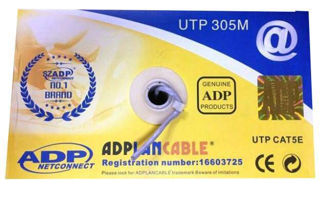 UTP CAT5E ADPLAN Cable 305 metres - CCTV Cable & Connectors at AsterVender