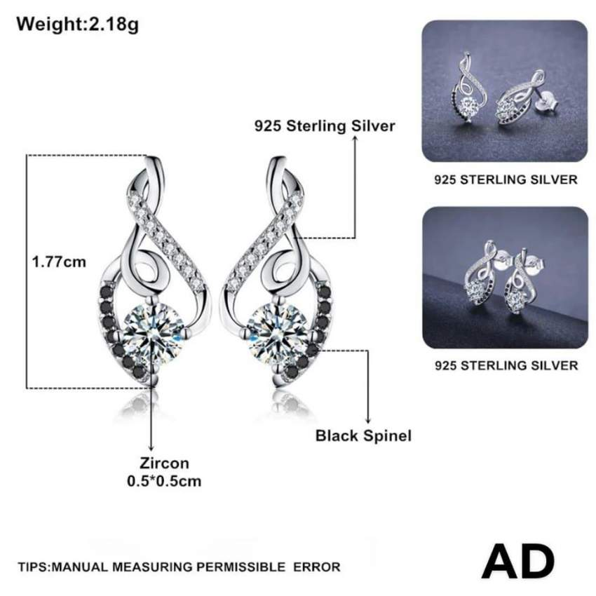 Gorgeous Stud Earrings (Genuine 925 Sterling Silver) at AsterVender