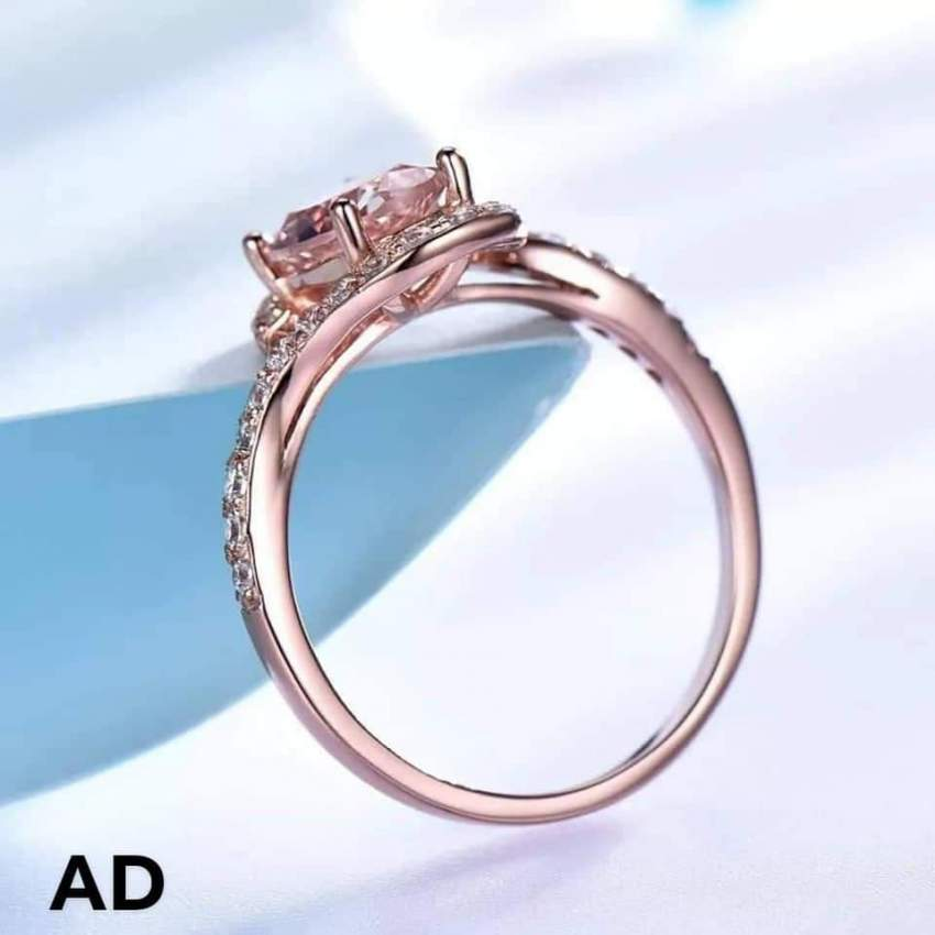 Unique Ring (925 Sterling Silver) with Morganite stone - Rings at AsterVender