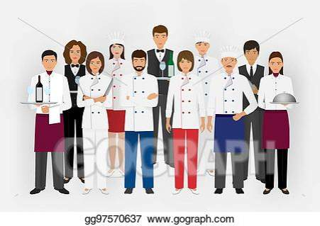 Catering and cooking team