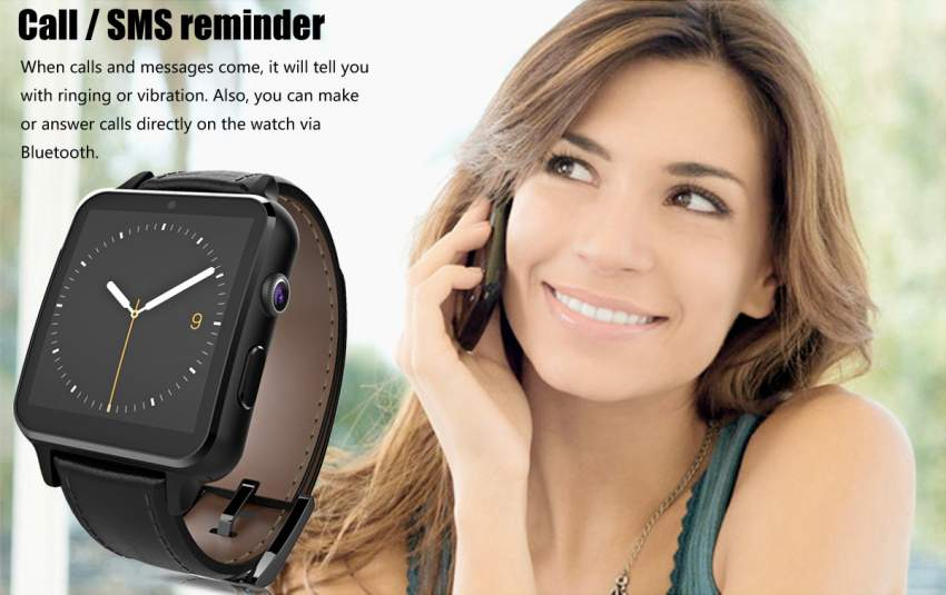 Smart Watch with Sim Card Bluetooth + Camera