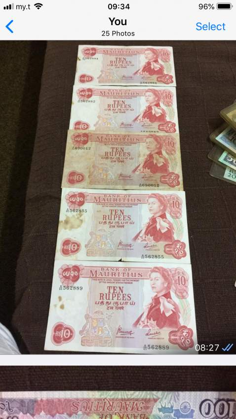 Mauritian old notes