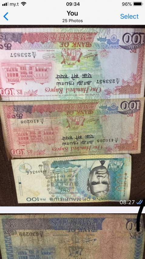 For sale old notes of Mauritius