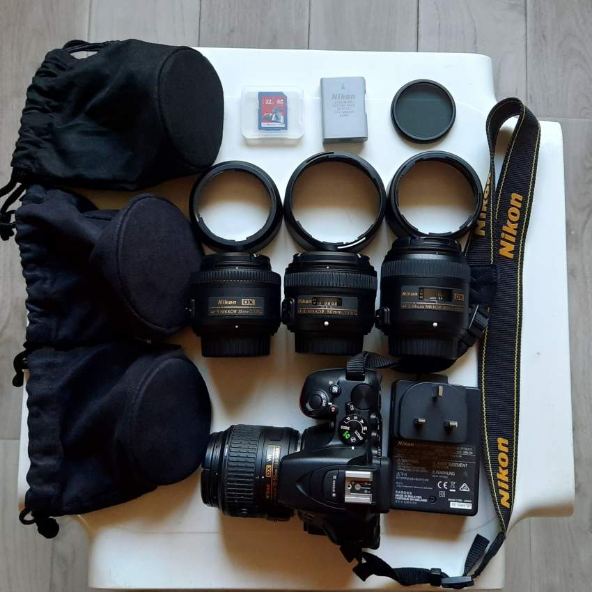 NIKON PHOTOGRAPHY KIT WITH 4 PRIME LENSES