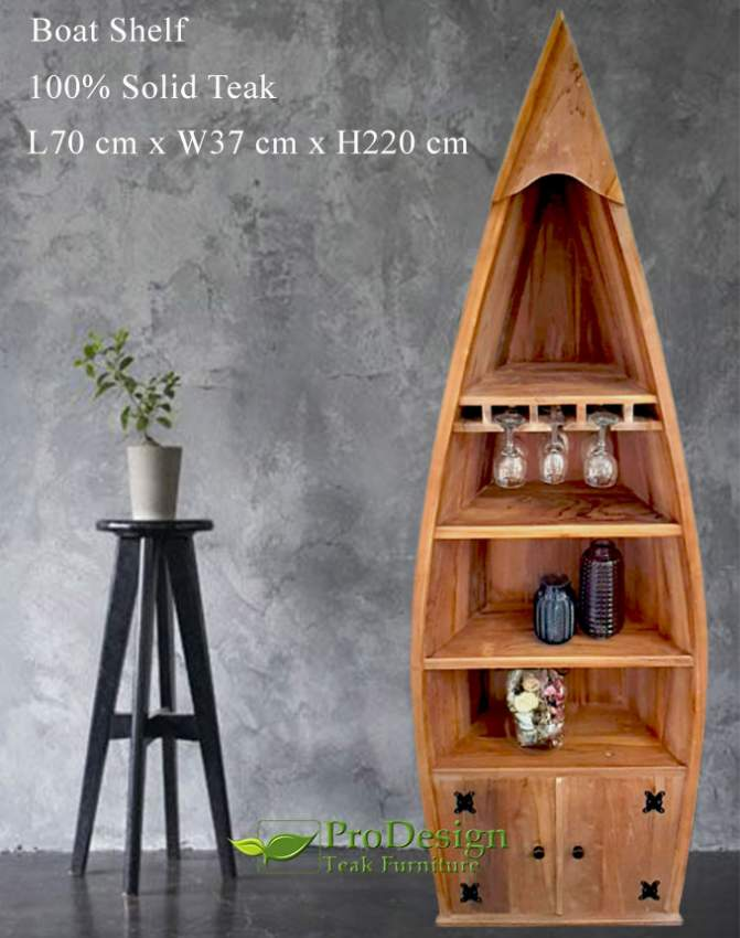 Solid Teak Boat Shelf