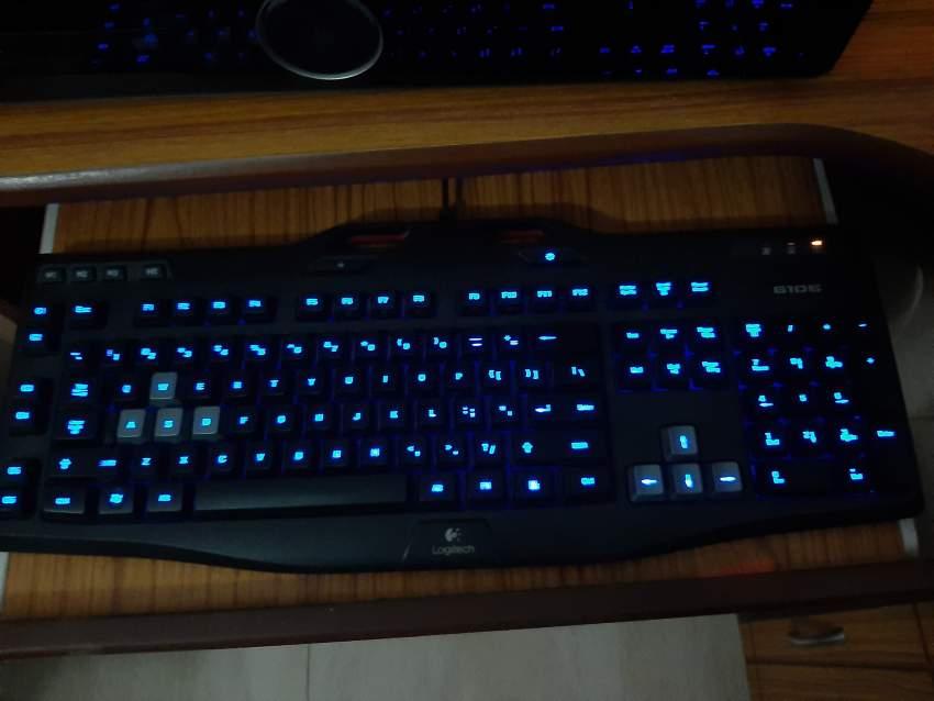 Gaming PC + Monitor + Logitech G106 Gaming Keyboard