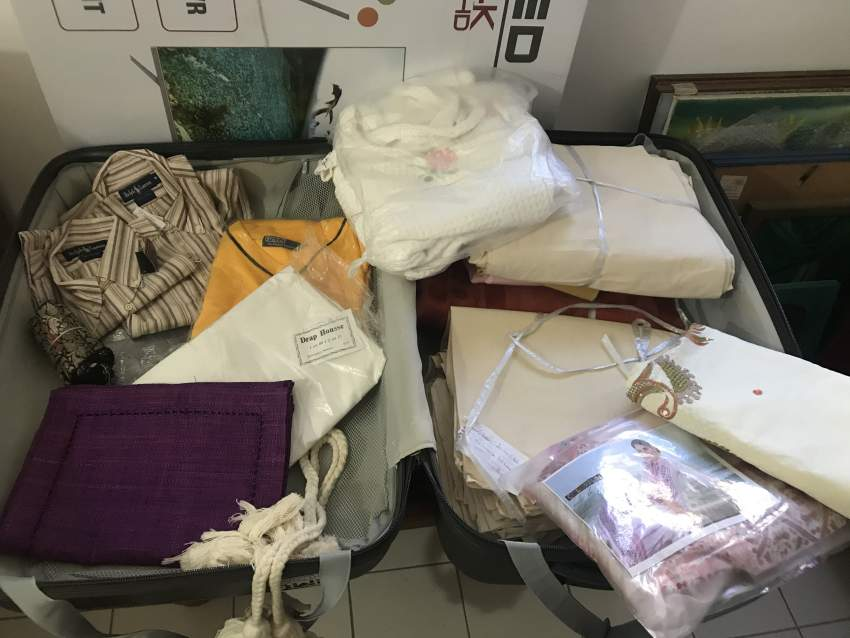 Cotton fabric (calico) and miscellaneous