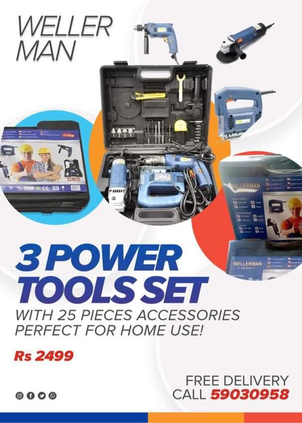 3 pieces power tool set.