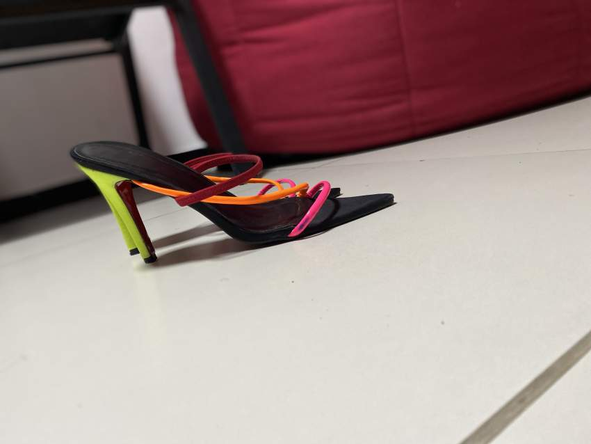 Multicolored sandal slipper heels - Classic shoes at AsterVender