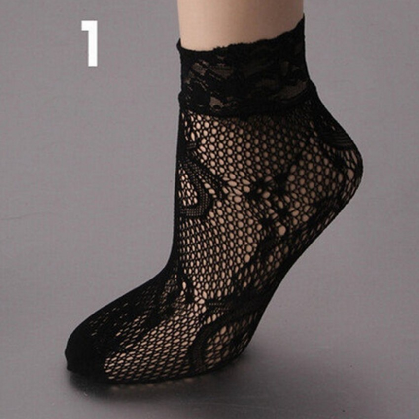 Sexy fishnet Soft Lace Short Ankle Socks - Socks & Leg wear (Women) at AsterVender