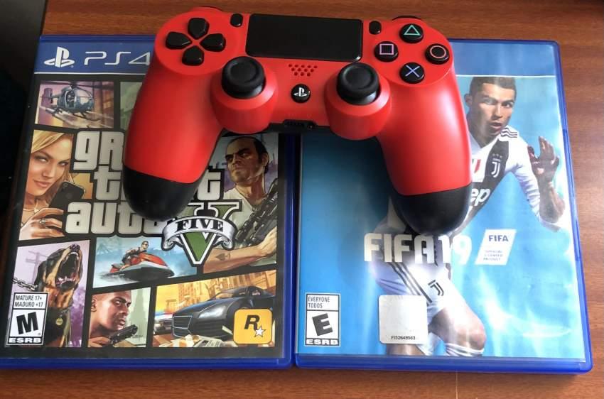 Manette PS4 et 2 jouer