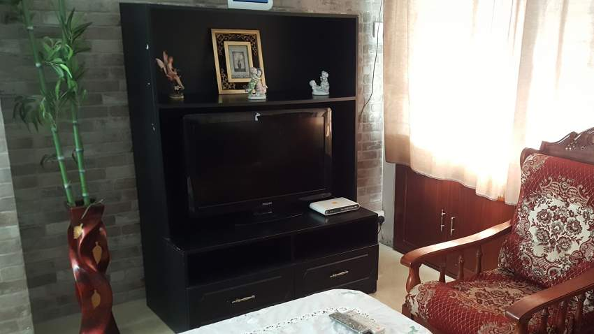 Black TV console furniture