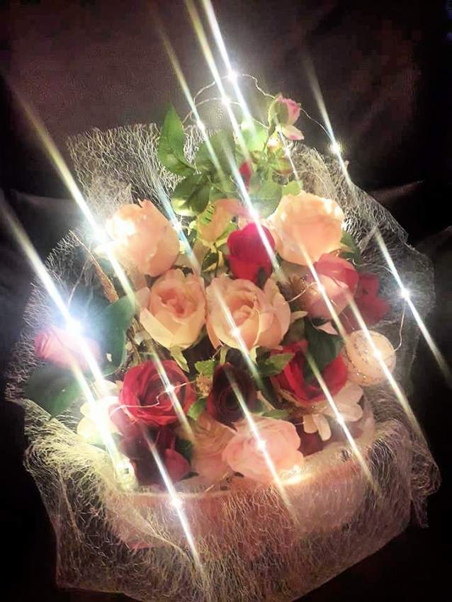 Wedding gift decorations with lighting effect