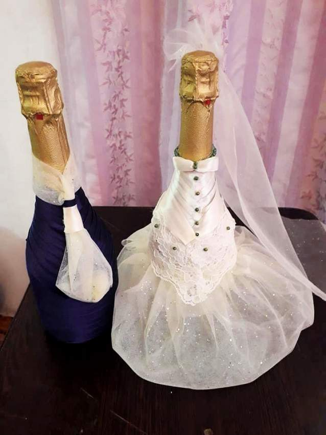 Champagne bottle decoration