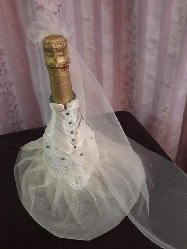 Champagne bottle decoration - 2 - Wedding Decor  on Aster Vender
