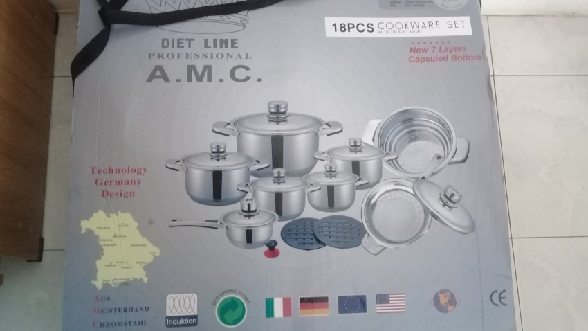 A.M.C 18PCS COOKWARE SET - Kitchen appliances at AsterVender