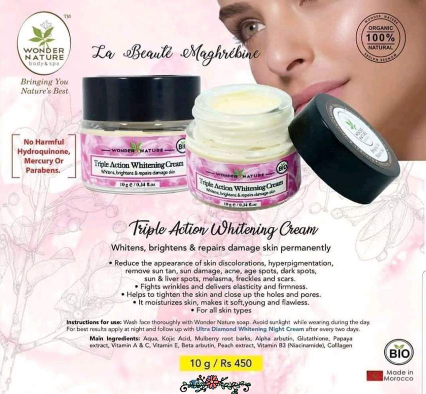 TRIPLE ACTION WHITENING CREAM