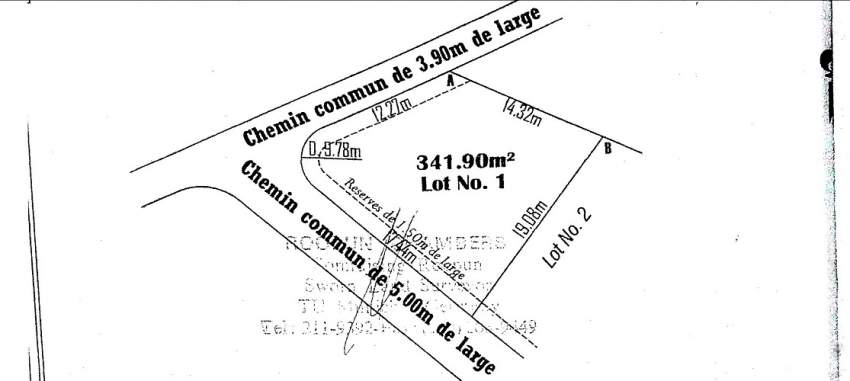 LAND ON SALE IN PAMPLEMOUSSES Rs 1.7 M neg