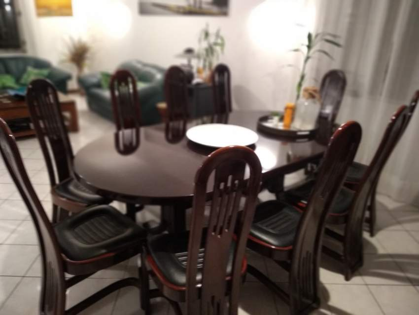 Dining table with 10 chairs wood