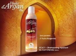 Shampooing a base d huile d argan