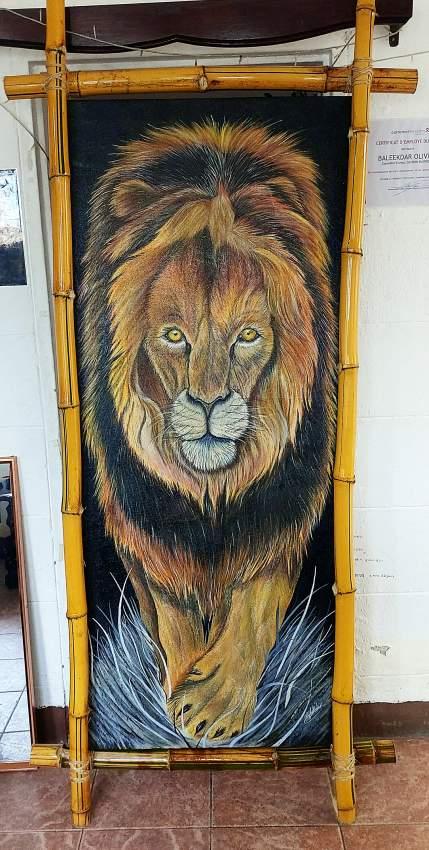 Authentic Handmade Lion on Canvas