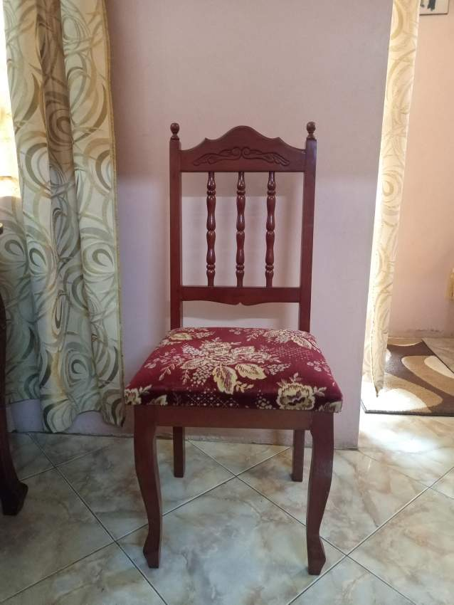 8 wooden chairs and table