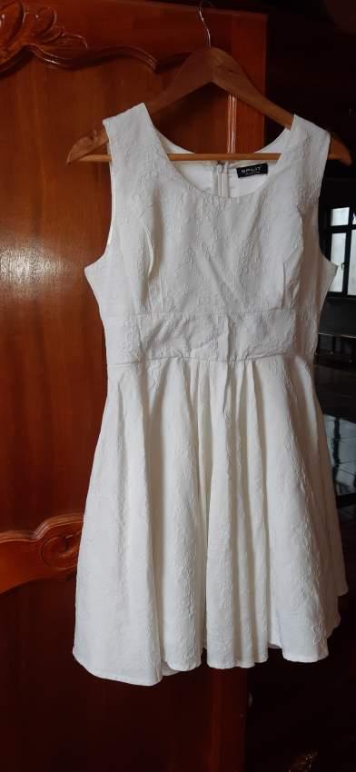 White Dress- branded SPLIT