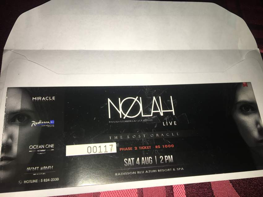 Ticket Nolah (The lost oracle) - Events at AsterVender