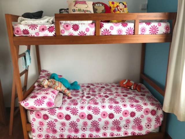 For Sale 3 In 1 Bunk Bed In Teak Wood Mattress Aster V