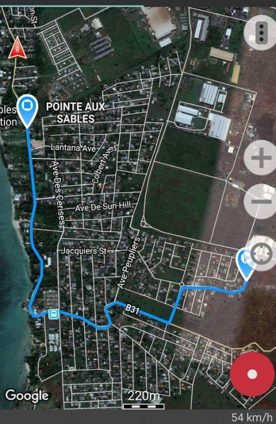 11,5 Perches  Residential land,  Pointe aux sables