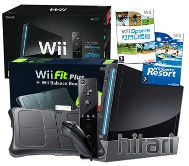 Wii console & equipments