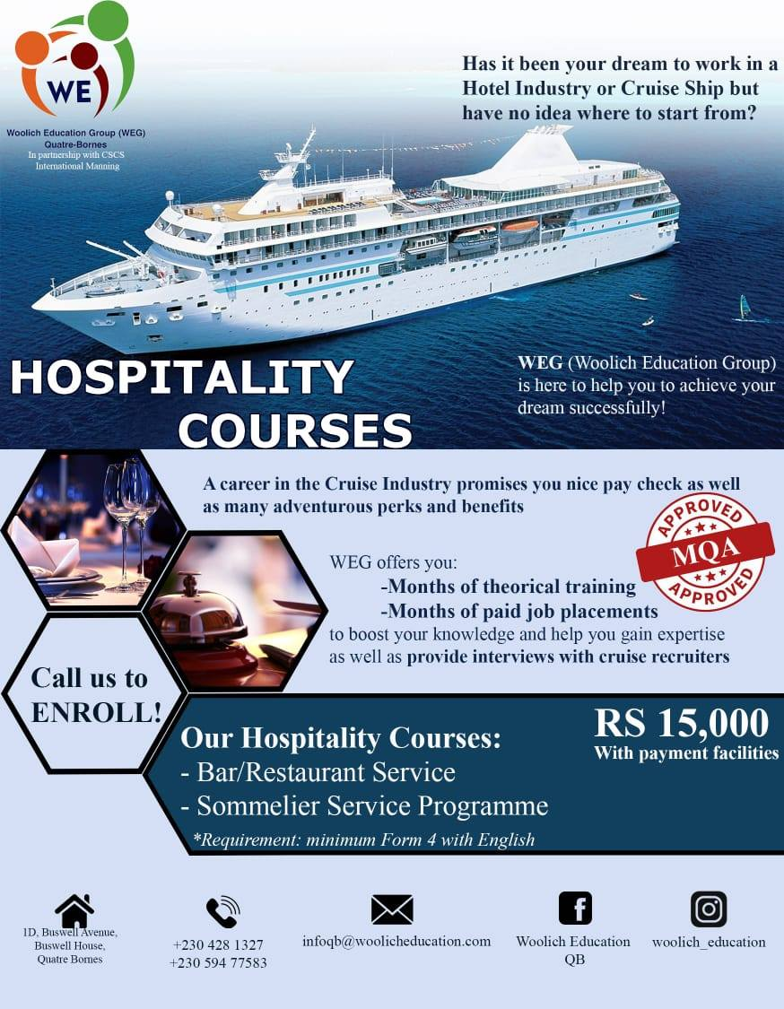 Hospitality Courses - Tourism at AsterVender