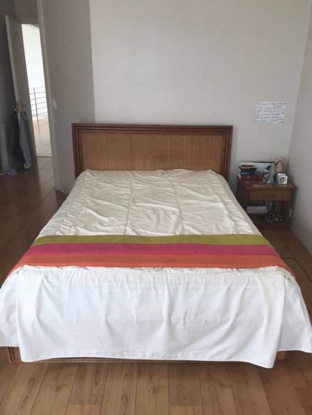 Lit Double En Bois Matelas Aster Vender Bedroom Furnitur