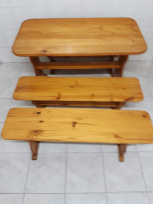 Table and Bench in pine