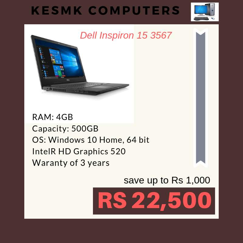 Laptop DELL Hurry up! Limited Stock. Only @ KESMK Computers LTD Contac